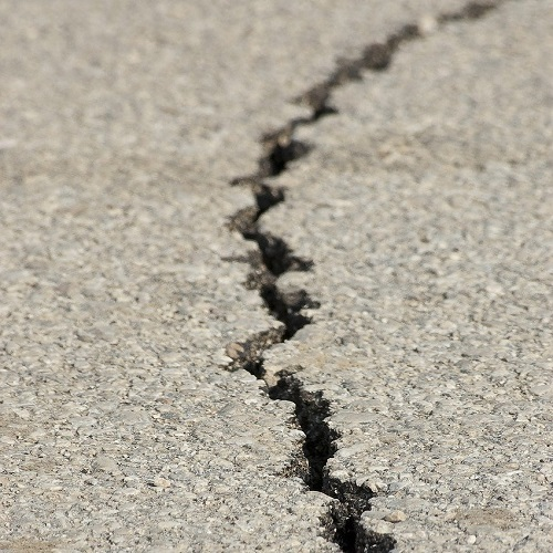 crack in pavement
