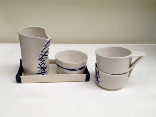 Stoneware ceramic tea set clayandmore