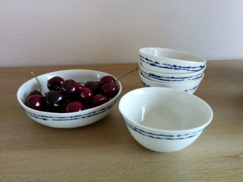 Cherries meet porcelain bowls