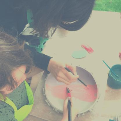 ouder kind kleiworkshop