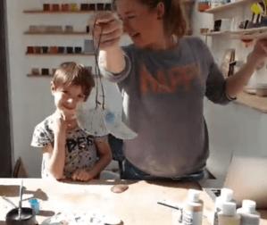 workshop vogeltje maken uit klei vierkant