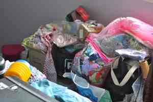 before bedroom declutter