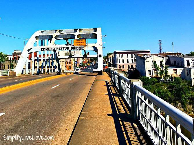 Learn about black history by visiting the Edmund Pettus Bridge in Selma Alabama