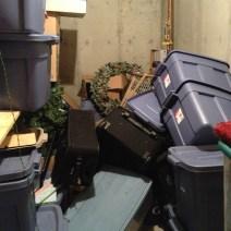 Storage room before