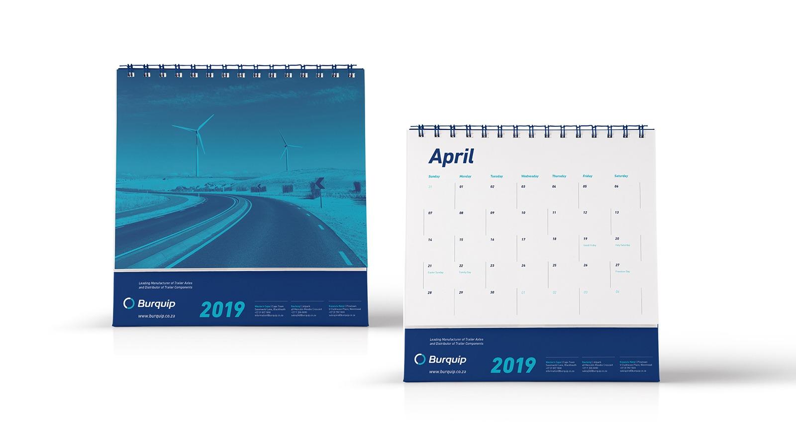 Burquip Calendar