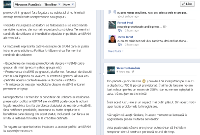 vivaSMS Facebook