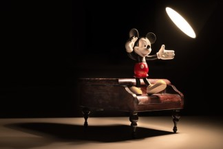 Mickey Mouse figure on a piano