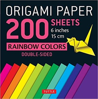 Origami Paper - 200 Sheets - Rainbow Colors