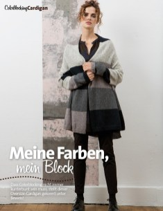 Strickanleitung Colorblock Jacke Lang Yarns Style Edition 0216