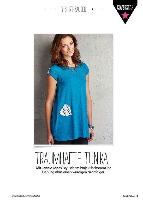 Nähanleitung blaue Tunika – Simply Nähen 0415