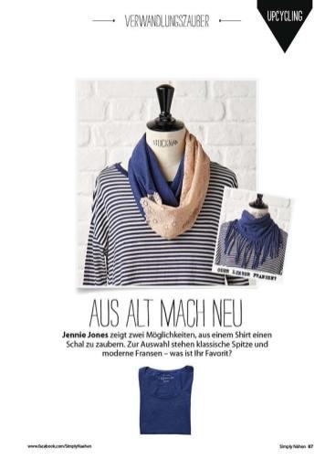 Nähanleitung: blauer Schal – Simply Nähen 0415