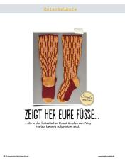 Häkelanleitung: rot-orange Kniestrümpfe Fantastische Häkel-Mode-Ideen 0515