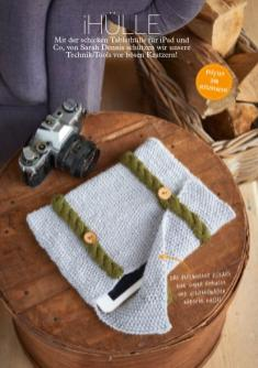 Strickanleitung iPad Hülle – Simply Stricken 04/2016