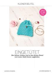 Strickanleitung Mini-Beutel – Simply Stricken 04/2016
