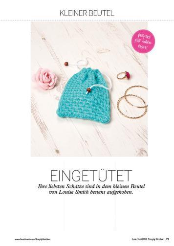 Strickanleitung Mini-Beutel – Simply Stricken 04/2016