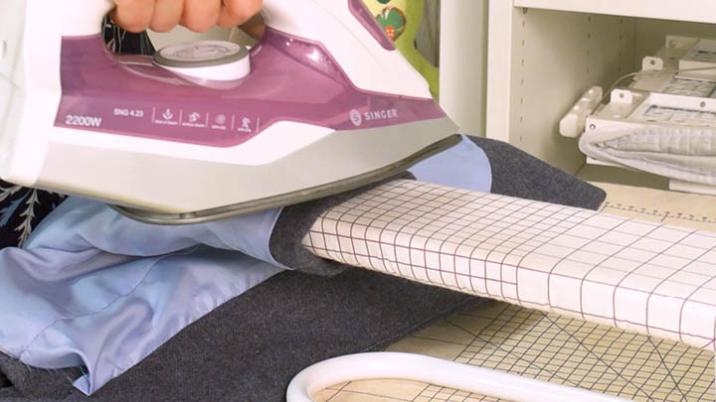 Nähtechnik: Bewegungsfalte bügeln