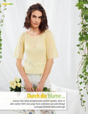 Strickanleitung - Lang Yarns Mohairshirt gelb - Fantastische Frühlings-Strickideen - 0218