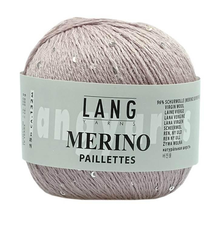 """Die Pailletten geben dem Garn """"Merino Paillettes"""" seinen Namen und verleihen ihm Blng-Bling."""