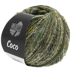 Lana Grossa Coco Farbe Natur/Senf/Graugrün