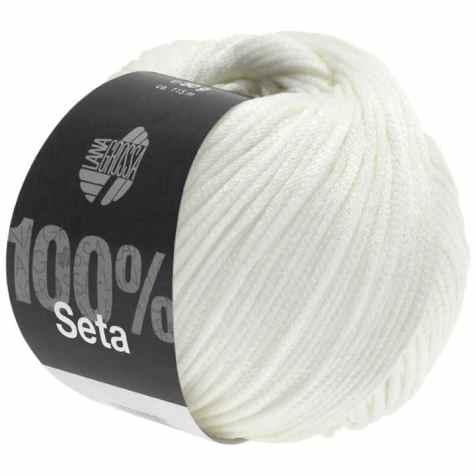 Lana Grossa Seta Farbe Weiß