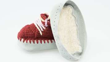 Prym, Ledersohlen, Teddyfell, Baby-Schuhe
