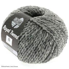 Lana Grossa, Royal Tweed, 14 Grau meliert