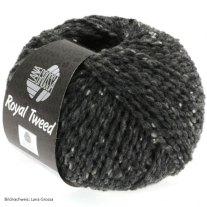 Lana Grossa, Royal Tweed, 06 Anthrazit meliert