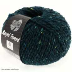 Lana Grossa, Royal Tweed, 76 Dunkelpetrol meliert