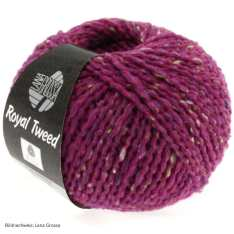 Lana Grossa, Royal Tweed, 79 Zyklam meliert