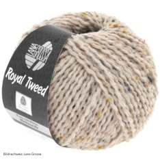 Lana Grossa, Royal Tweed, 81 Beigerosa meliert