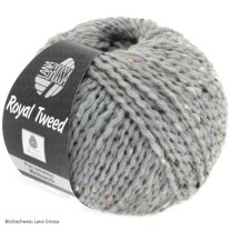 Lana Grossa, Royal Tweed, 82 Hellgrau meliert