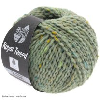 Lana Grossa, Royal Tweed, 83 Mint meliert