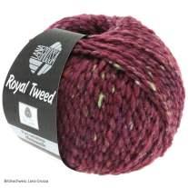Lana Grossa, Royal Tweed, 87 Bordeaux meliert