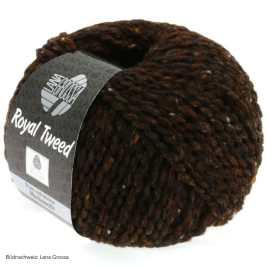 Lana Grossa, Royal Tweed, 09 Dunkelbraun meliert