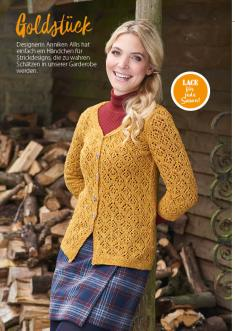Strickanleitung Senfgelber Cardigan Simply Stricken 0218