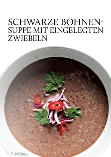 Gesund und fix - Kochen mit dem Thermomix - Schwarze Bohnen-Suppe mit eingelegten Zwiebeln 0218