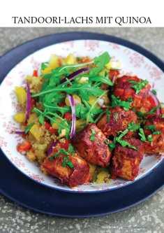 Gesund und fix - Kochen mit dem Thermomix - Tandoori-Lachs mit Quinoa 0218
