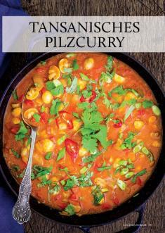Rezept - Tansanisches Pilzcurry - Gesund & fix kochen mit dem Thermomix® 03/2018