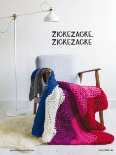 Häkelanleitung - Zickezacke, Zickezacke - Simply Kreativ Jumbo Häkeln - 01/2018