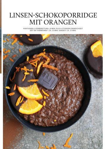 Rezept - Linsen-Schokoladenporridge mit Orangen - Gesund & fix kochen mit dem Thermomix® 03/2018