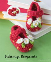 Häkelanleitung - Erdbeerige Babyschuhe - Mini Häkeln Vol. 2