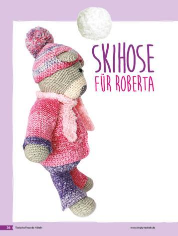 Häkelanleitung - Skihose für Roberta - Tierische Freunde häkeln 02/2018