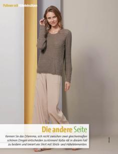 Strickanleitung - Die andere Seite - Pulli - Fantastische Sommer-Strickideen 03/2018