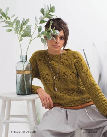 Strickanleitung - Moonflower-Pullover - Strickmode - 0218