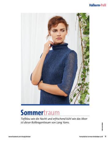 Strickanleitung - Sommertraum - Halbarmpulli - Fantastische Sommer-Strickideen 03/2018