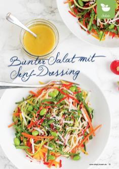 Rezept - Bunter Salat mit Senf-Dressing - Gesund & Fix mit dem Thermomix - 05/2018