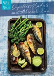 Rezept - Gegrillte Makrele mit Avocado-Dip - Gesund und fix mit dem Thermomix - 0418