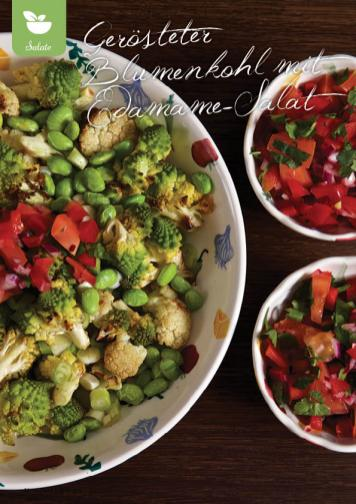 Rezept - Gerösteter Blumenkohl mit Edamame-Salat - Gesund & Fix mit dem Thermomix - 05/2018