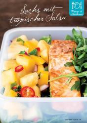 Rezept - Lachs mit tropischer Salsa - Gesund und fix mit dem Thermomix - 0418