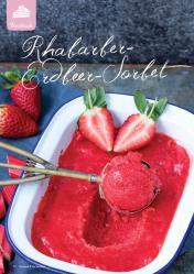 Rezept - Rhabarber-Erdbeer-Sorbet - Gesund & Fix mit dem Thermomix - 05/2018